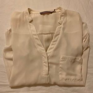 Off White Blouse with Pocket